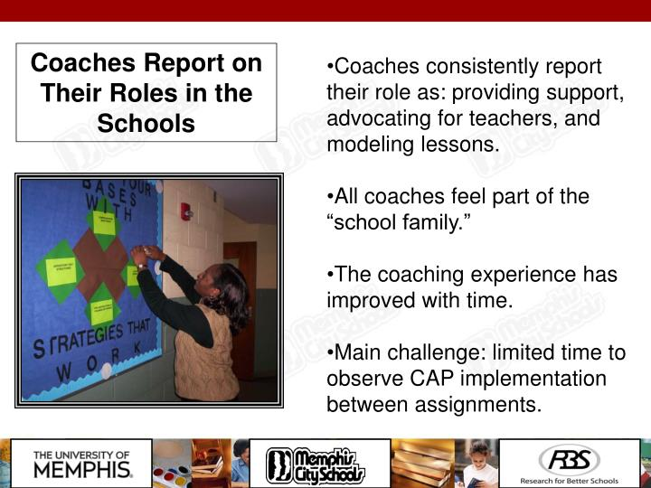 Coaches Report on Their Roles in the Schools
