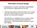 third wave of focus groups