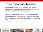 time spent with teachers