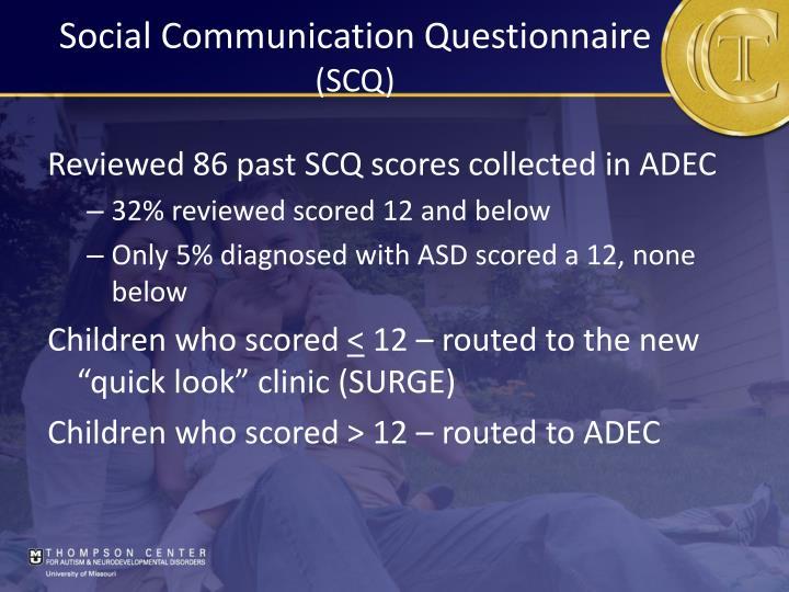 Social Communication Questionnaire