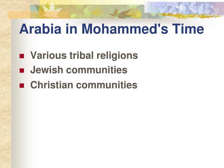 Arabia in Mohammed