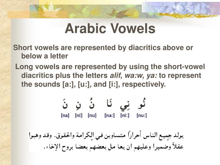Arabic Vowels