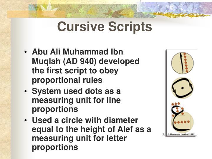 Cursive Scripts