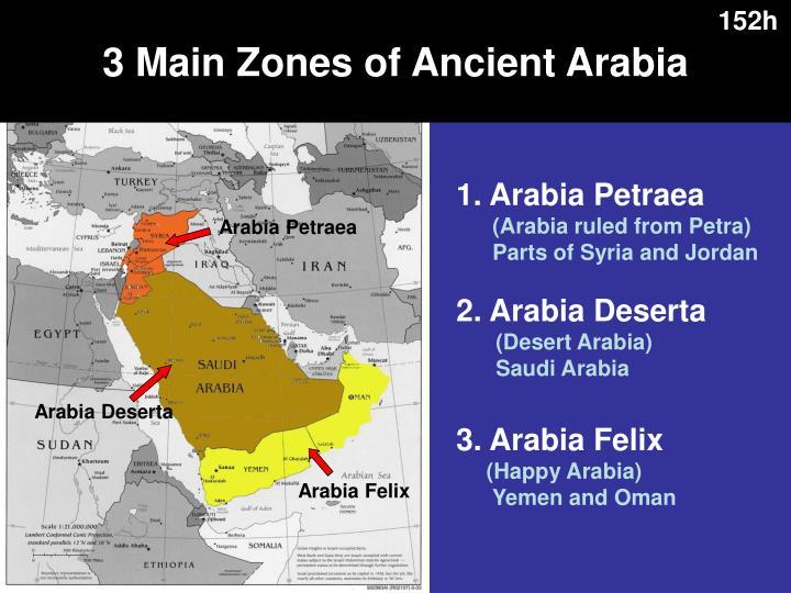 3 Main Zones of Ancient Arabia