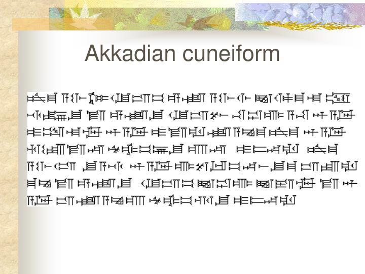 Akkadian cuneiform