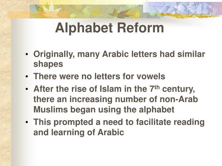 Alphabet Reform