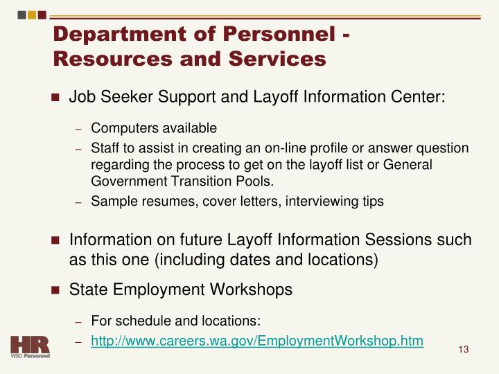 Department of Personnel -