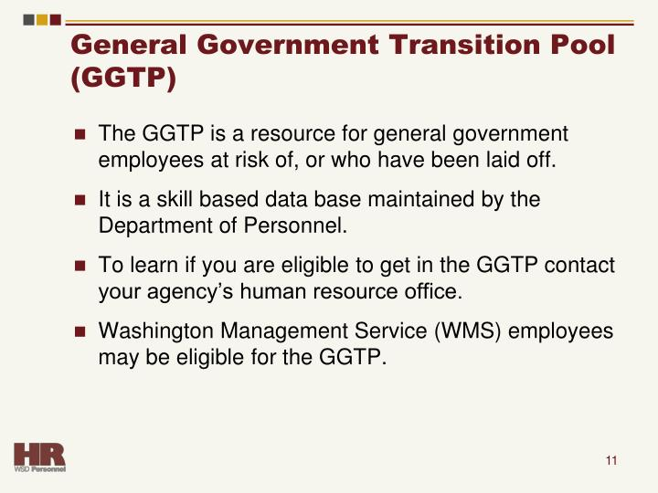 General Government Transition Pool (GGTP)