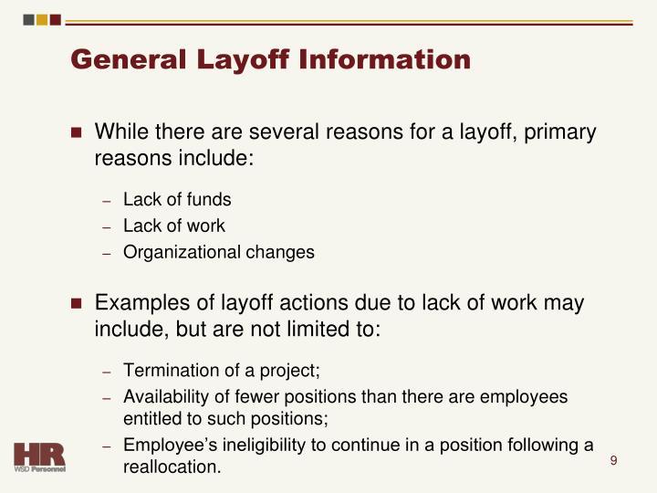 General Layoff Information