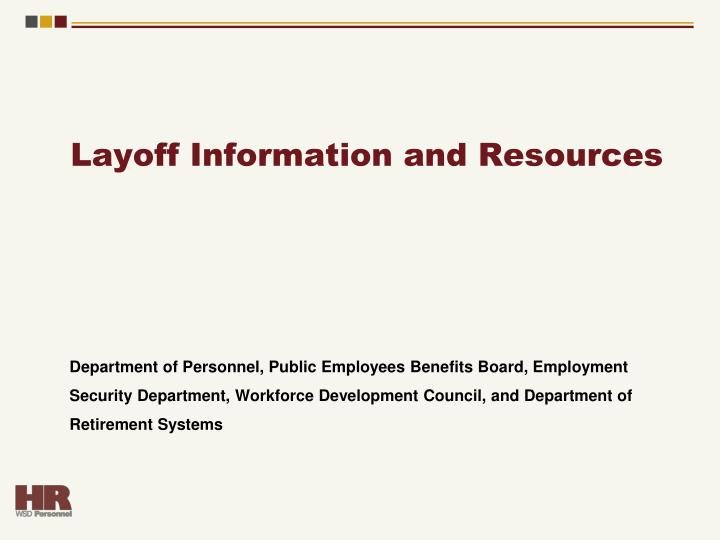 Layoff Information and Resources