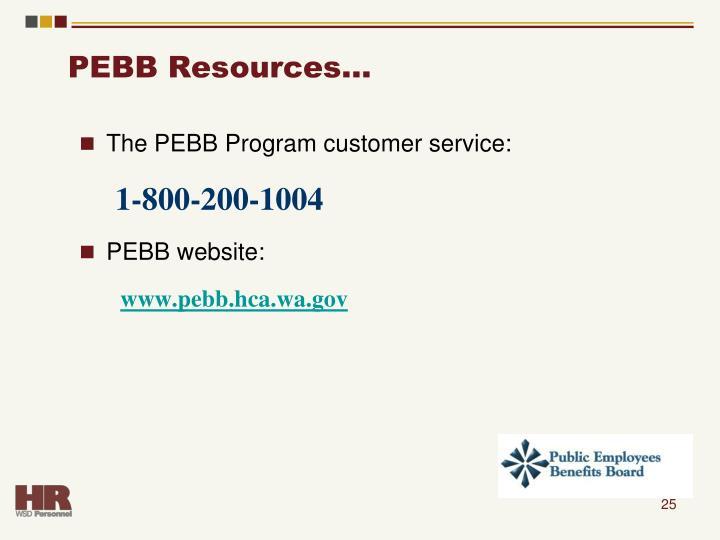 PEBB Resources…