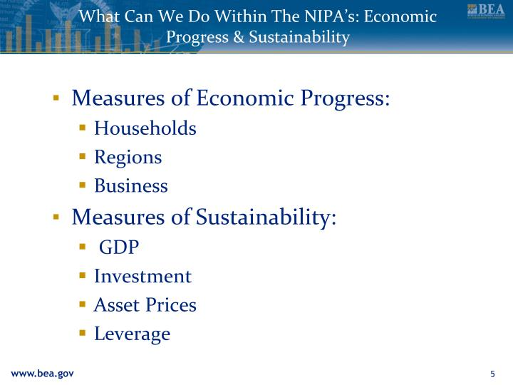 What Can We Do Within The NIPA's: Economic Progress & Sustainability