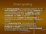direct grading