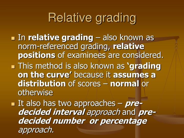 Relative grading
