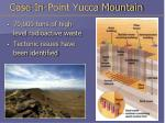 case in point yucca mountain