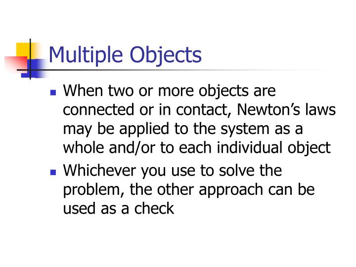 Multiple Objects