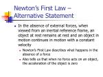newton s first law alternative statement