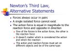 newton s third law alternative statements