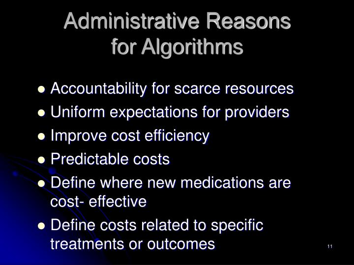 Administrative Reasons