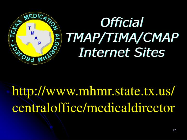 Official TMAP/TIMA/CMAP Internet Sites