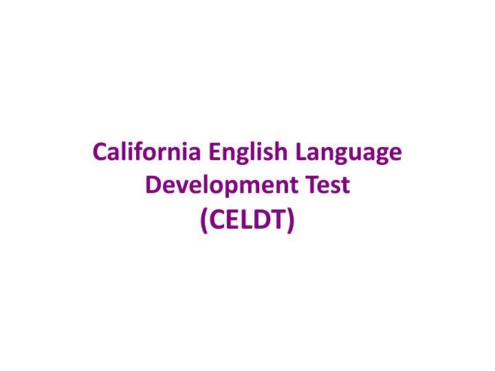 California English Language Development Test
