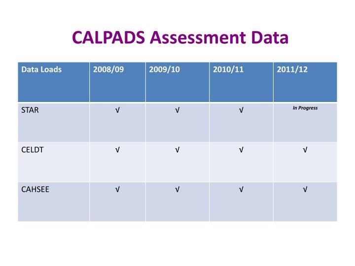 CALPADS Assessment Data