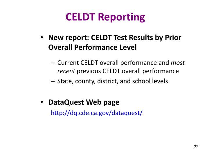 CELDT Reporting