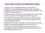 five year cohort graduation rate