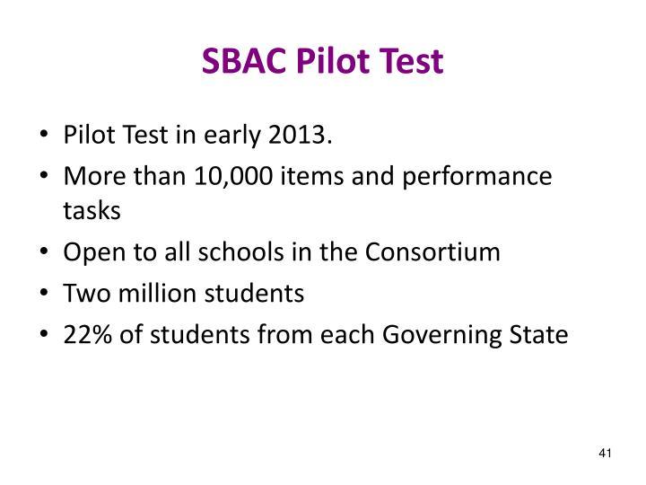 SBAC Pilot Test
