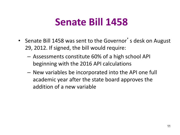 Senate Bill 1458