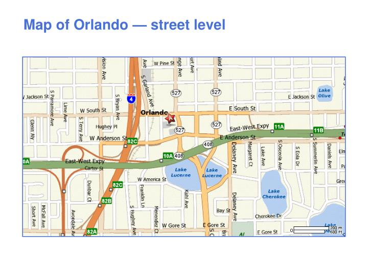 Map of Orlando — street level