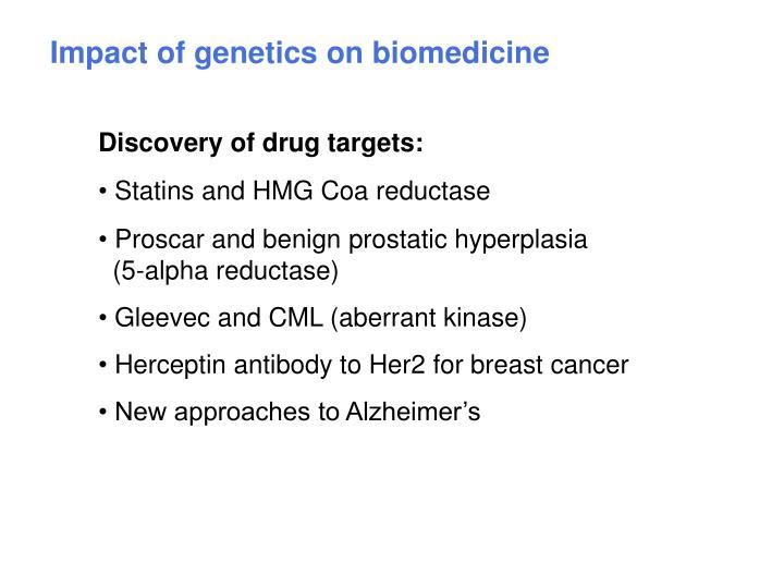Impact of genetics on biomedicine
