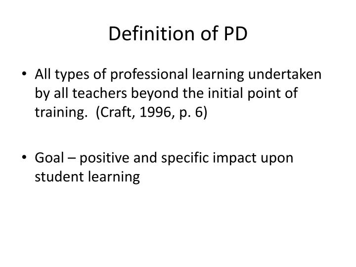Definition of PD