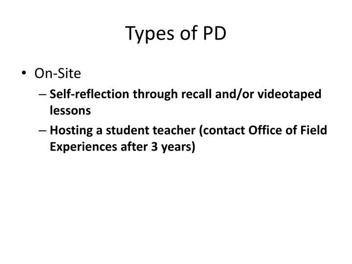 Types of PD