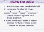 monthly edit checks