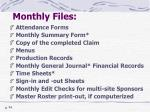monthly files