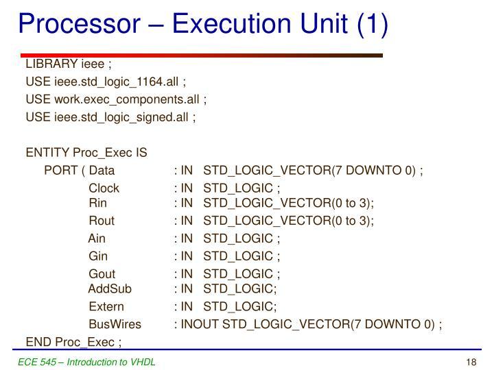 Processor – Execution Unit (1)