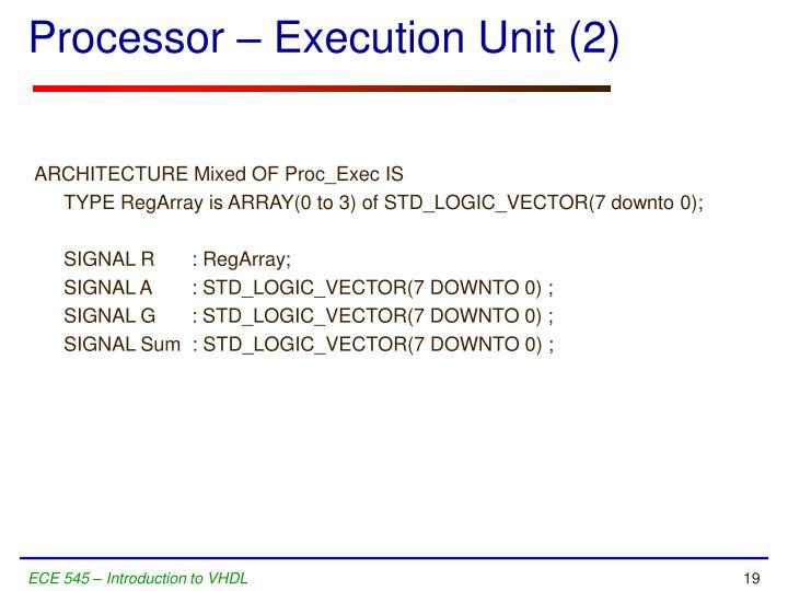 Processor – Execution Unit (2)