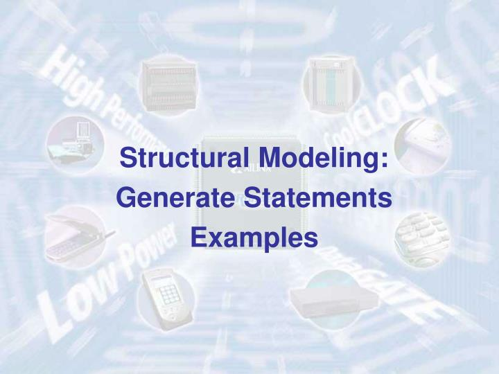 Structural Modeling: