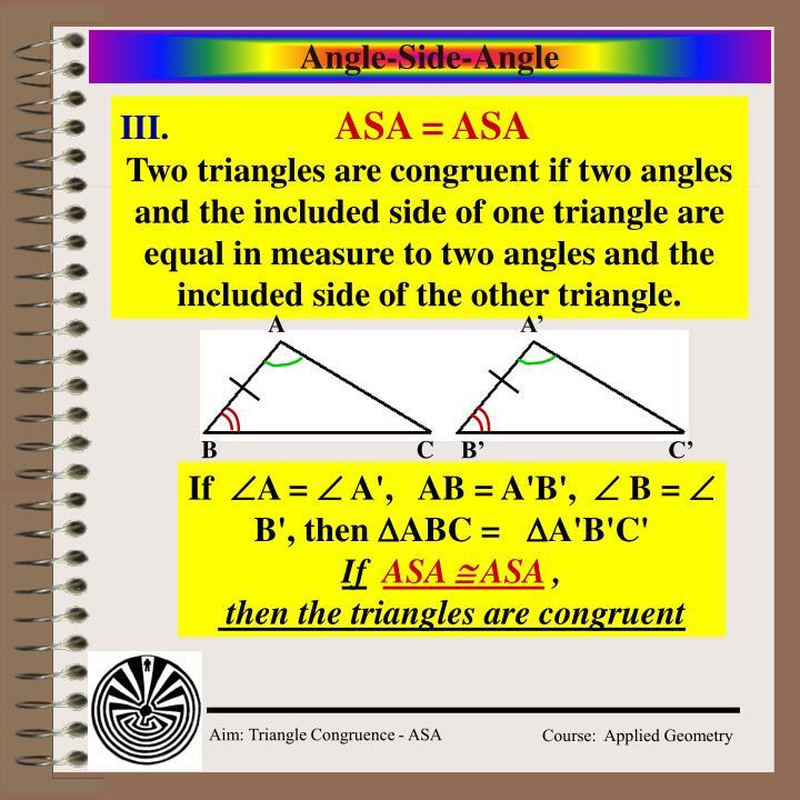 Angle-Side-Angle