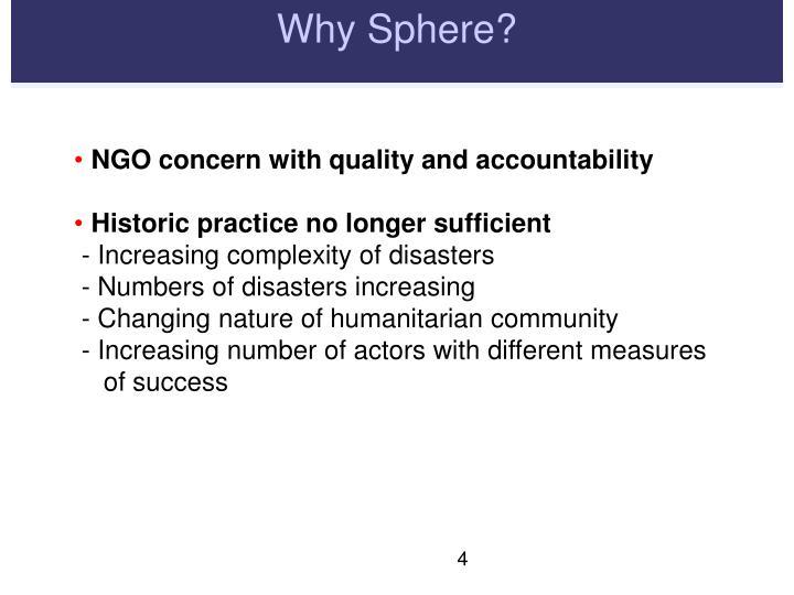 Why Sphere?