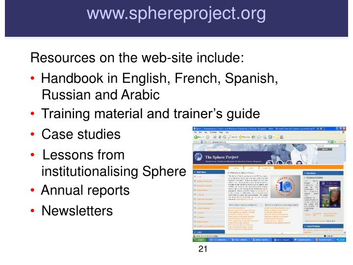 www.sphereproject.org
