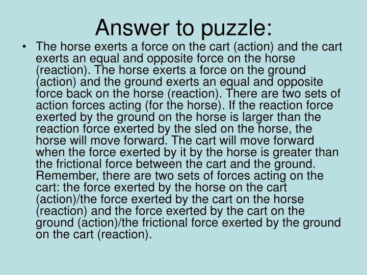 Answer to puzzle: