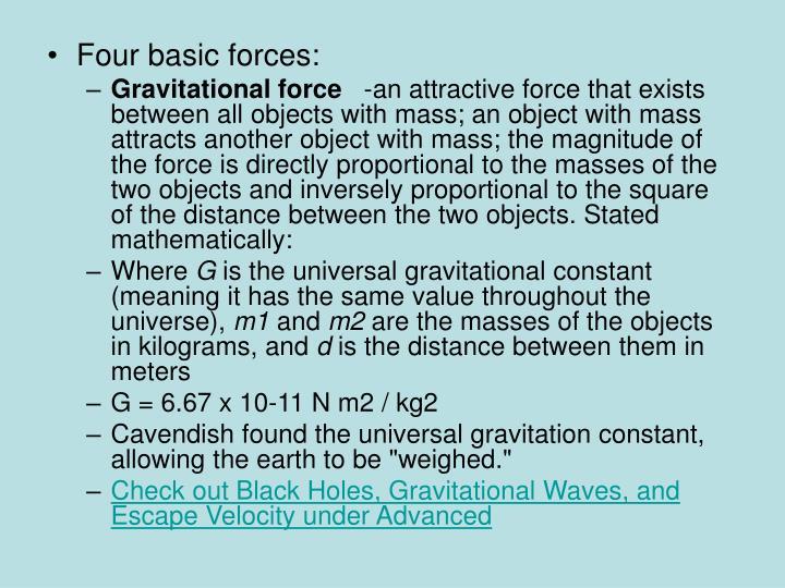 Four basic forces: