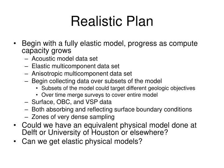 Realistic Plan