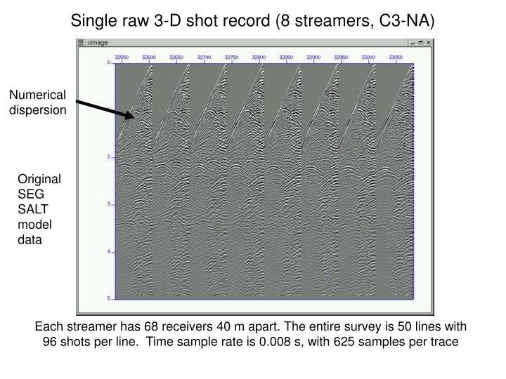 Single raw 3-D shot record (8 streamers, C3-NA)