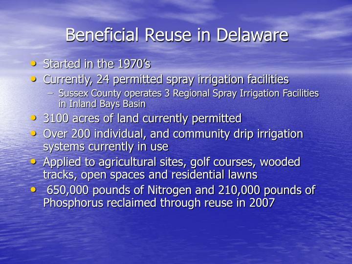 Beneficial Reuse in Delaware