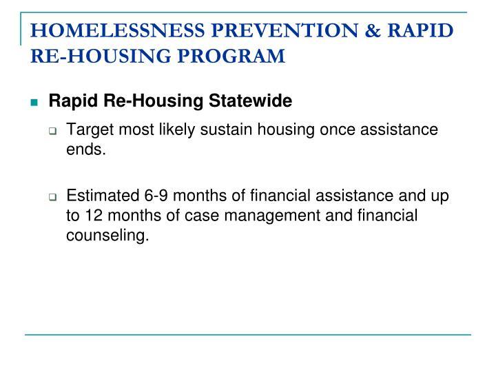 HOMELESSNESS PREVENTION & RAPID RE-HOUSING PROGRAM
