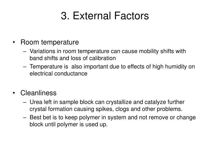 3. External Factors