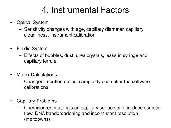 4. Instrumental Factors